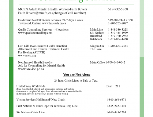 Updated Mental Health Resources