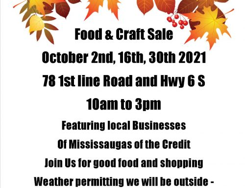 October Food and Craft Sale!