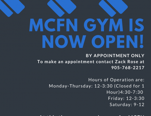 MCFN Gym – now open to MCFN members and staff!