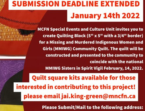 Extended Call for Submissions – MMIW Community Quilt