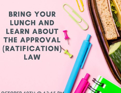 MCFN Governance Department Lunch and Learn – Approval Law